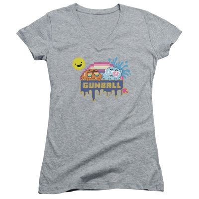 The Amazing World Of Gumball Sunshine Juniors V-Neck T-Shirt