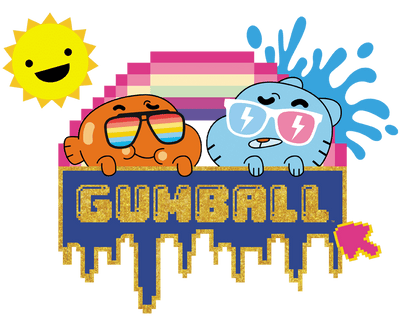 The Amazing World Of Gumball Sunshine Men's Ringer T-Shirt