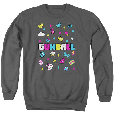 The Amazing World Of Gumball Fun Drops Men's Crewneck Sweatshirt