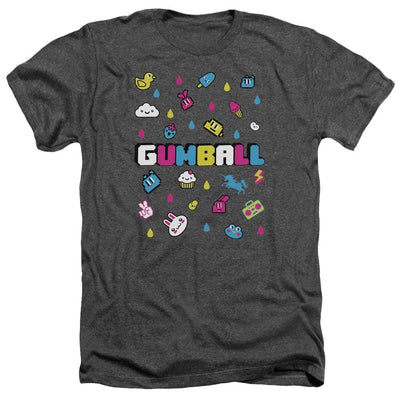 The Amazing World Of Gumball Fun Drops Men's Heather T-Shirt