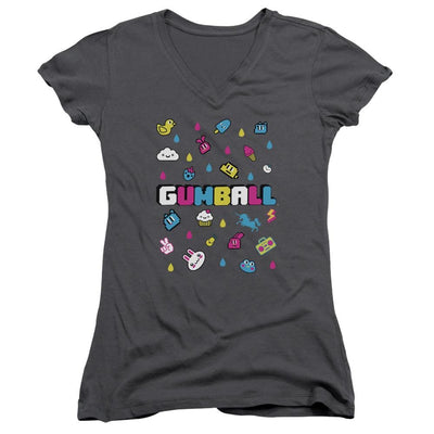 The Amazing World Of Gumball Fun Drops Juniors V-Neck T-Shirt