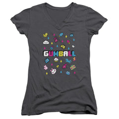 Amazing World Of Gumball - Fun Drops Junior V-Neck T-Shirt
