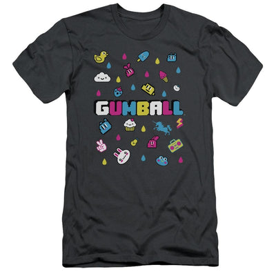 The Amazing World Of Gumball Fun Drops Men's Slim Fit T-Shirt