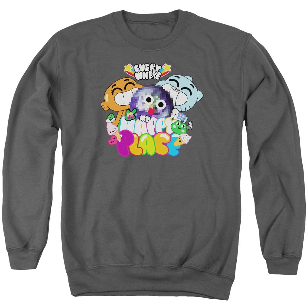 Amazing World Of Gumball - Happy Place Adult Crewneck Sweatshirt