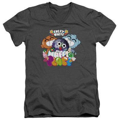 The Amazing World Of Gumball Happy Place Men's V-Neck T-Shirt