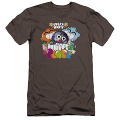 Amazing World Of Gumball Happy Place Premium Adult Slim Fit T-Shirt