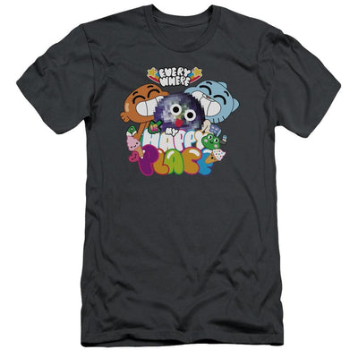 The Amazing World Of Gumball Happy Place Men's Slim Fit T-Shirt