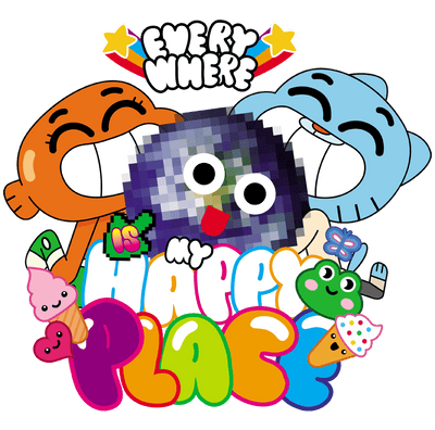 The Amazing World Of Gumball Happy Place Juniors T-Shirt