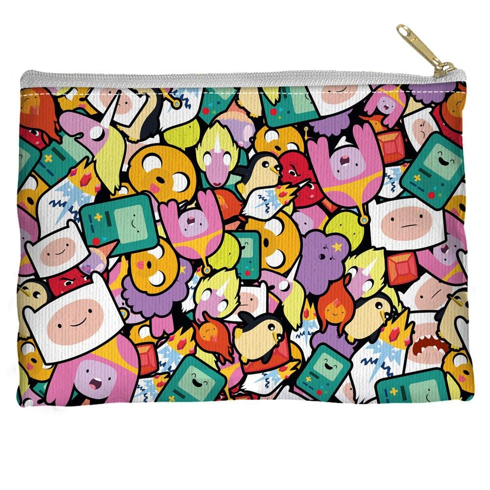 Adventure Time - Stacked Stickers Straight Bottom Pouch