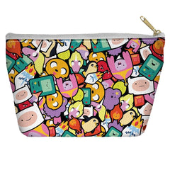 Adventure Time - Stacked Stickers Tapered Bottom Pouch