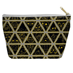Adventure Time - Triangles Tapered Bottom Pouch