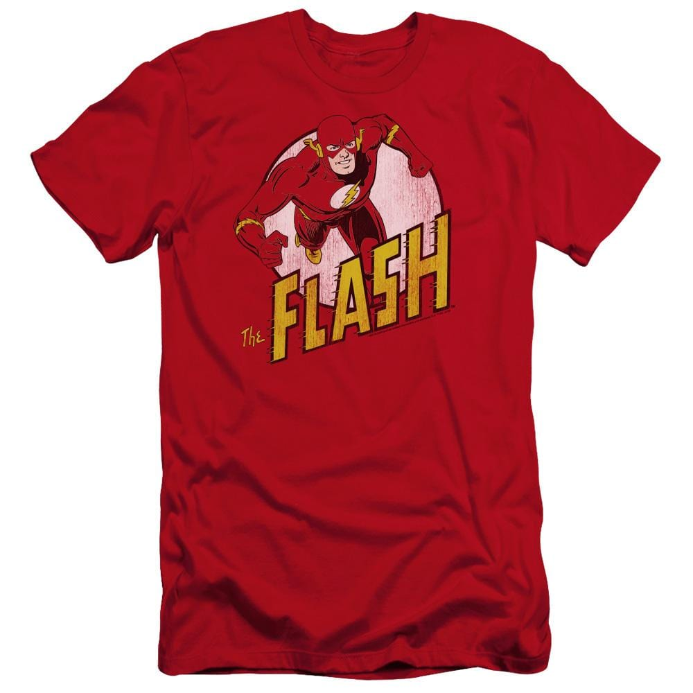 Dc The Flash Premium Adult Slim Fit T-Shirt