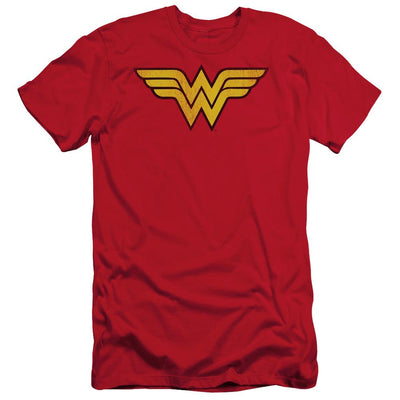 DC Comics Wonder Woman Logo Dist Men's Slim Fit T-Shirt