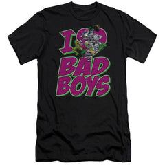 Dc I Heart Bad Boys Premium Adult Slim Fit T-Shirt