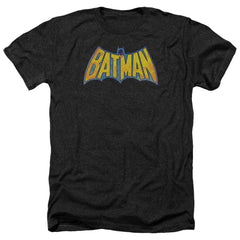 Dco Batman Neon Distress Logo Adult Regular Fit Heather T-Shirt