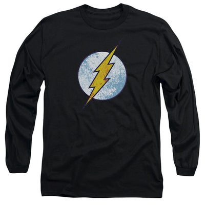 The Flash Flash Neon Distress Logo Men's Long Sleeve T-Shirt