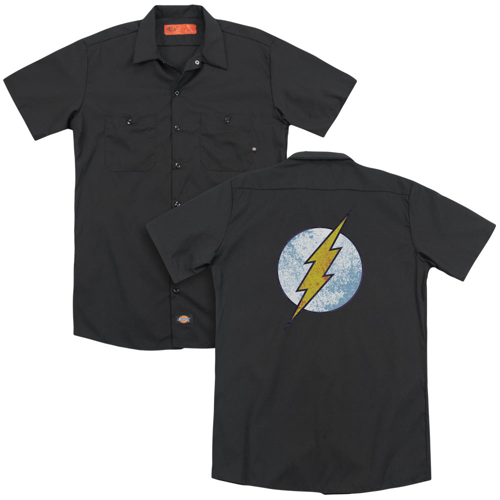 Dco Flash Neon Distress Logo Adult Work Shirt