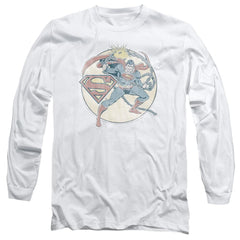 Dco Retro Superman Iron On Adult Long Sleeve T-Shirt