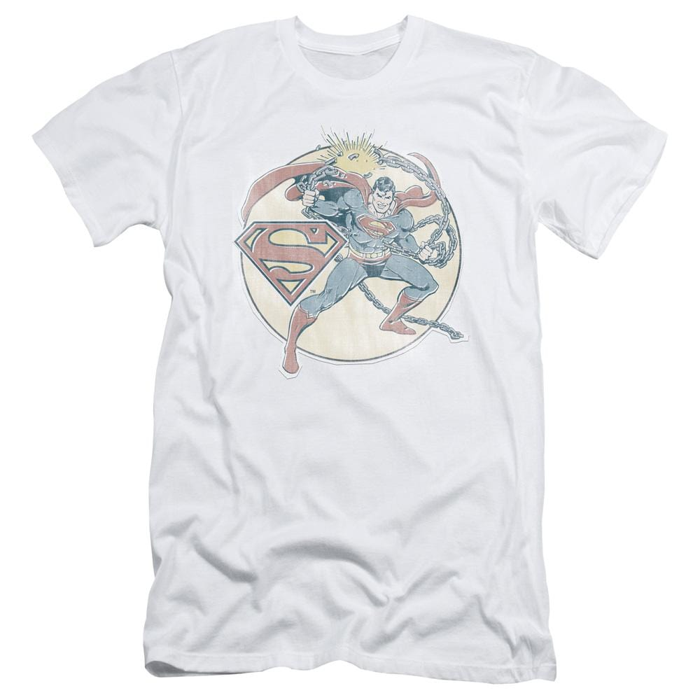 Dco Retro Superman Iron On Adult Slim Fit T-Shirt