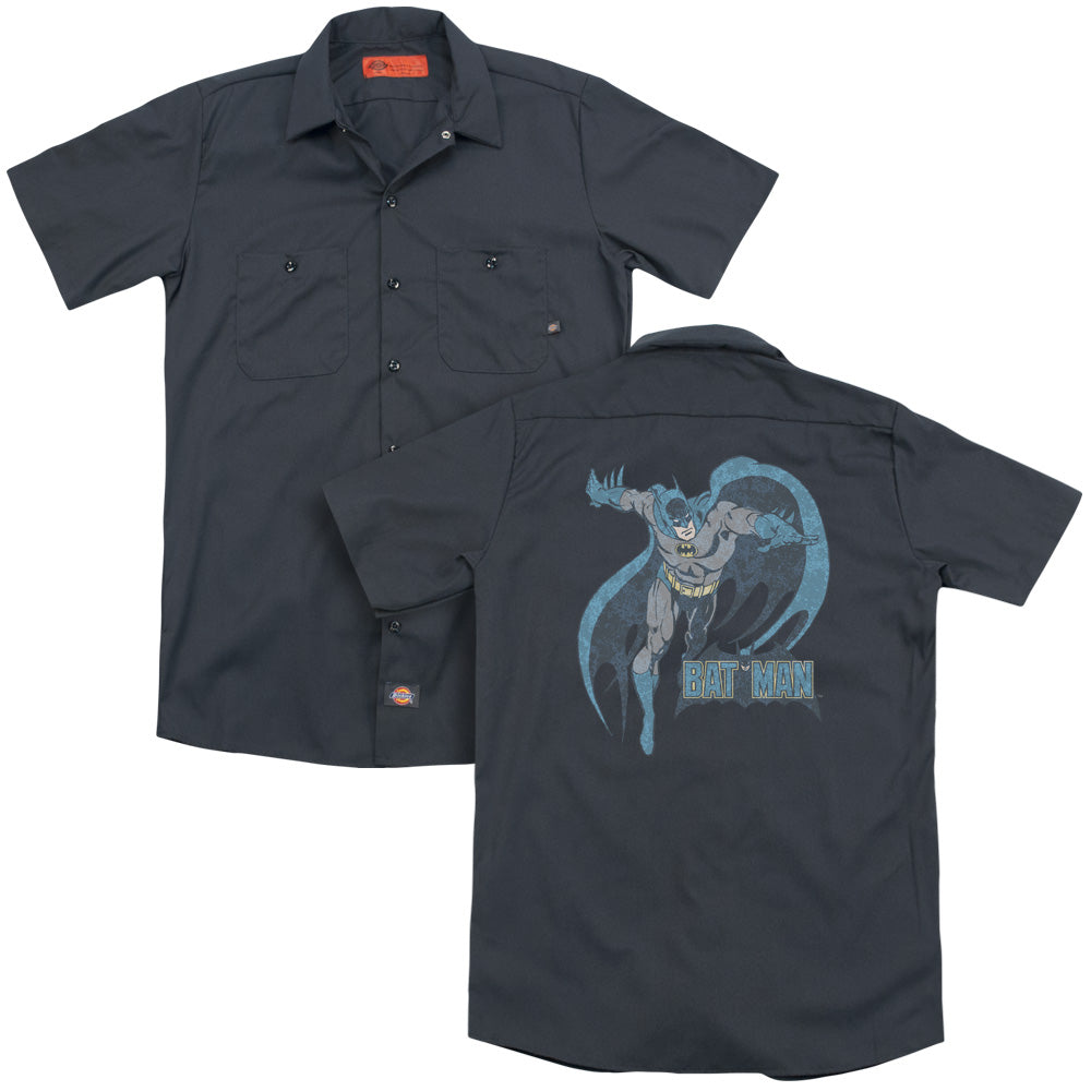 Dco Desaturated Batman Adult Work Shirt