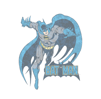 DC Comics Desaturated Batman Juniors V-Neck T-Shirt