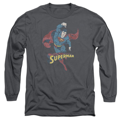 DC Comics Desaturated Superman Men's Long Sleeve T-Shirt