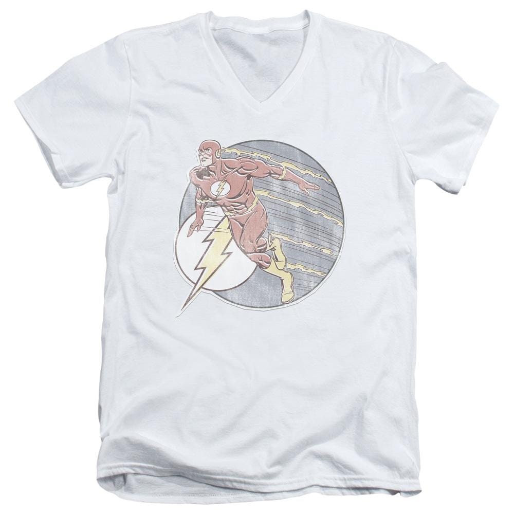 Dco Retro Flash Iron On Adult V Neck T-Shirt