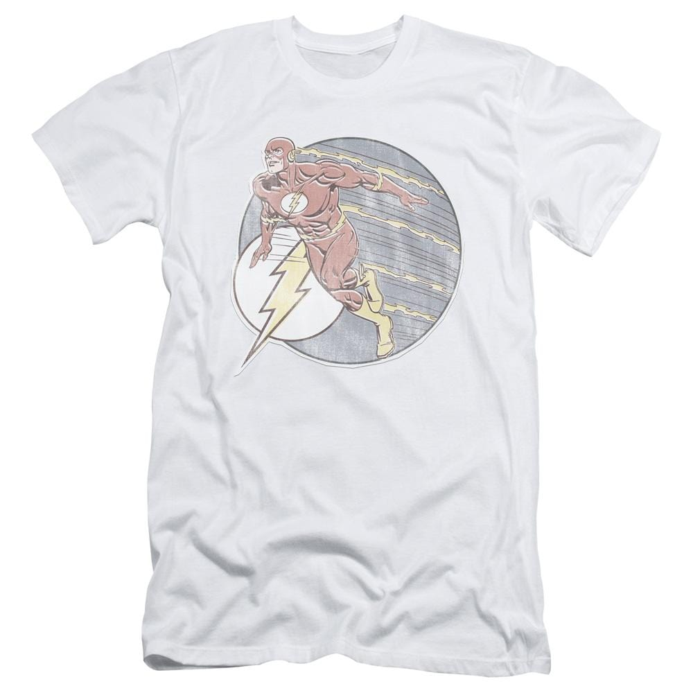 Dco Retro Flash Iron On Adult Slim Fit T-Shirt