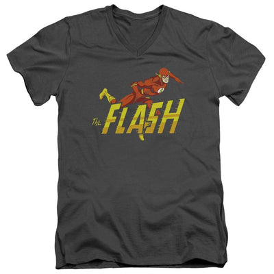 The Flash 8 Bit Flash Men's V-Neck T-Shirt