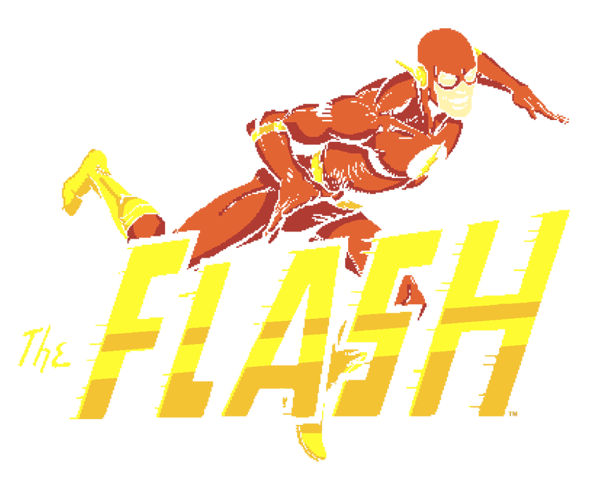 The Flash 8 Bit Flash Men's Crewneck Sweatshirt