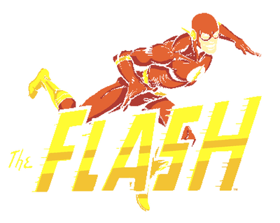 The Flash 8 Bit Flash Pullover Hoodie
