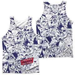 Dc Justice All Around Adult Tank Top