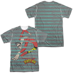 Plastic Man - Plastic Stripes All Over Print Adult All Over Print 100% Poly T-Shirt