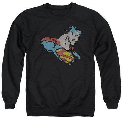 DC Comics Lite Brite Superman Men's Crewneck Sweatshirt
