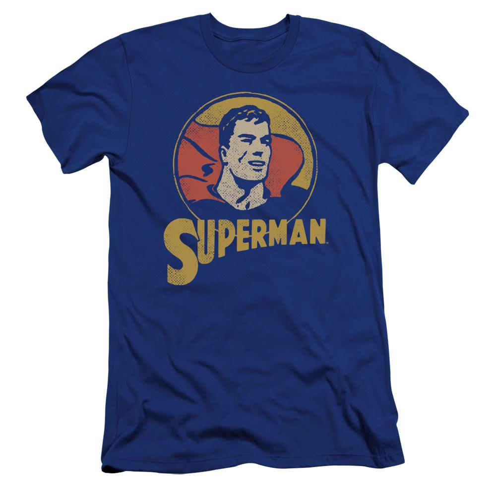 Dc Super Circle Premium Adult Slim Fit T-Shirt