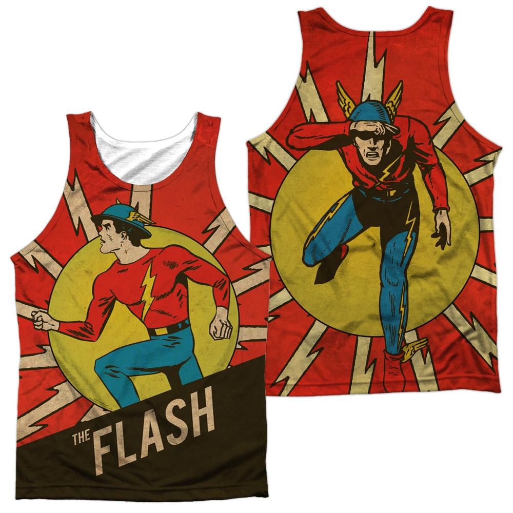 Dc Vintage Comic Flash Adult Tank Top