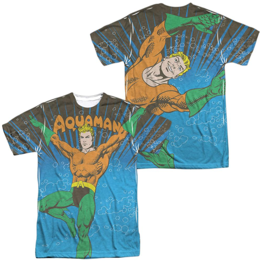 Dc Underwater Sub Adult All Over Print 100% Poly T-Shirt