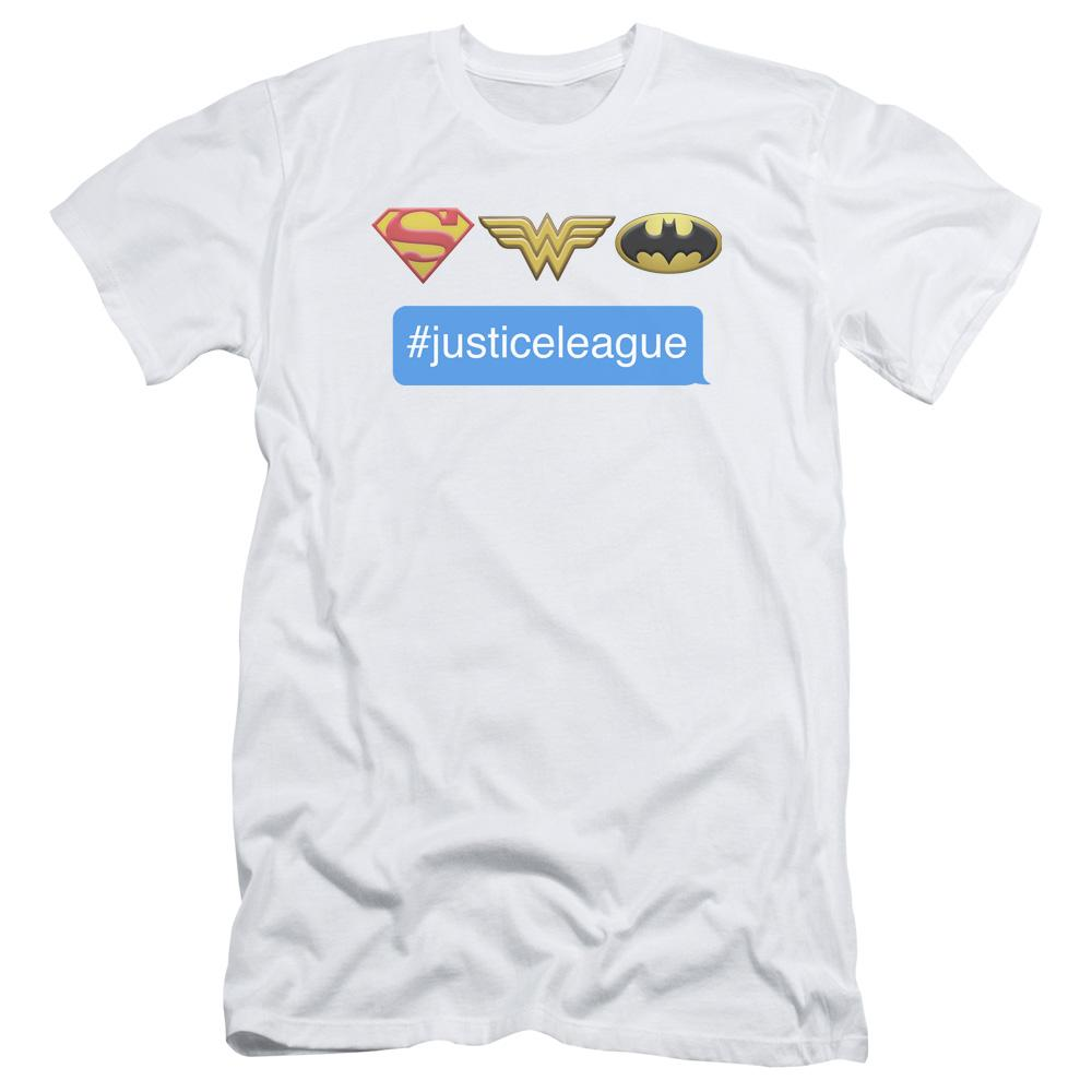 Dc Hashtag Jla Adult Slim Fit T-Shirt