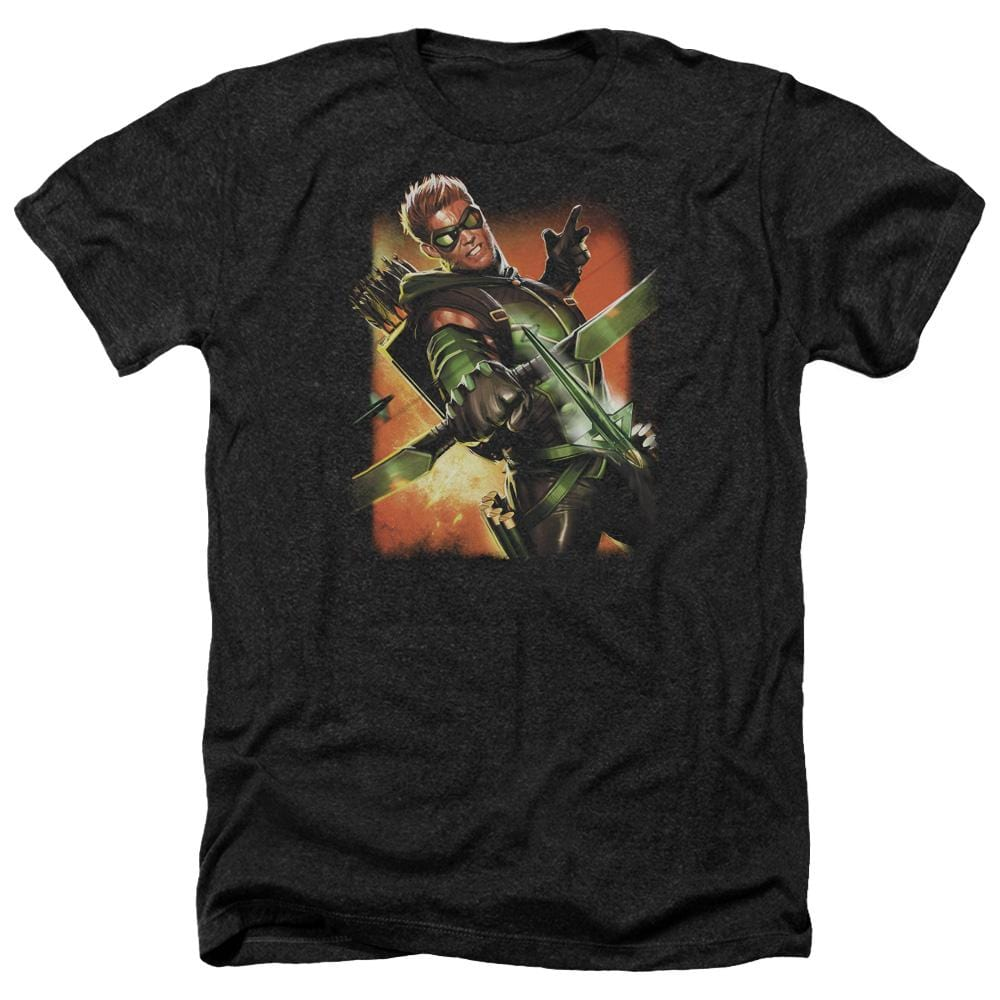 Jla Green Arrow #1 Adult Regular Fit Heather T-Shirt
