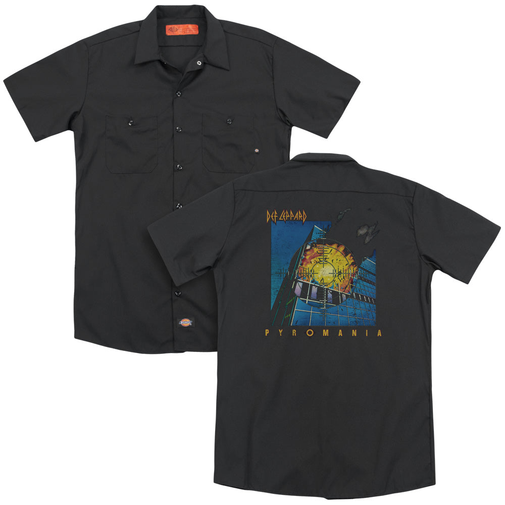 Def Leppard Pyromania Adult Work Shirt