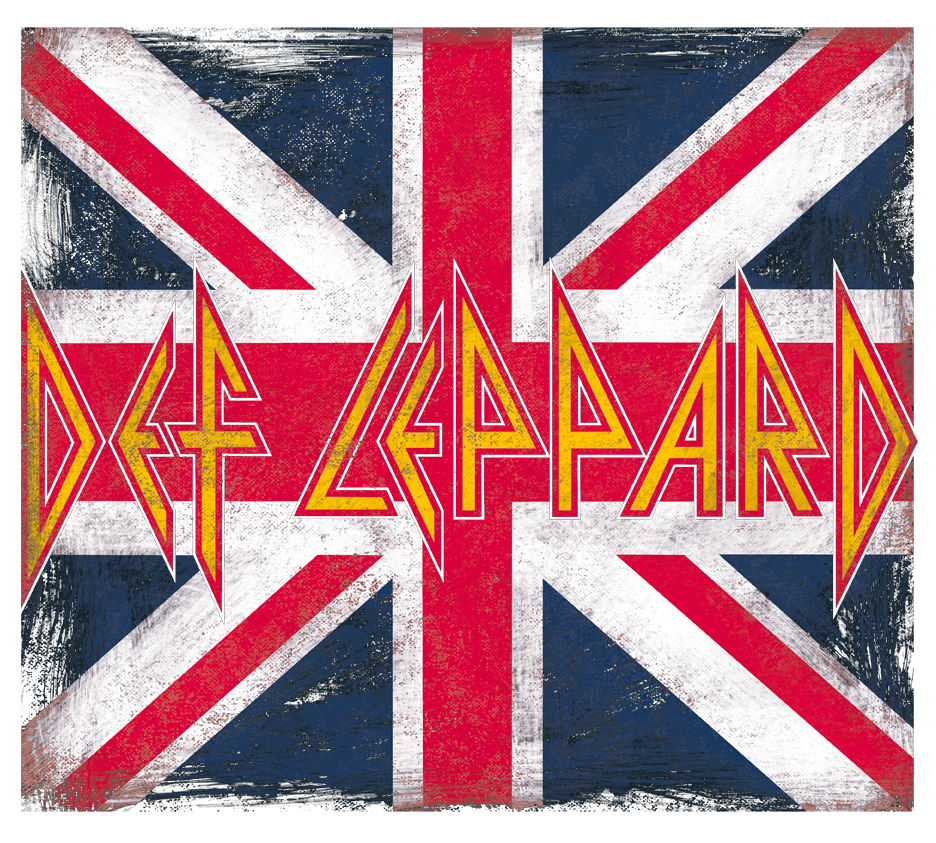 Details about  /Def Leppard Watermelone Union Jack Adult T Shirt Metal Music Merch