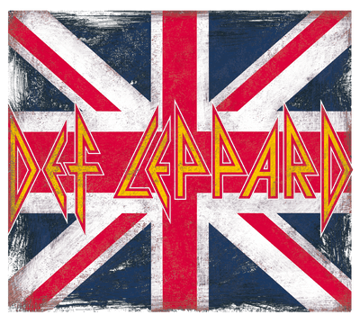 Def Leppard Union Jack Men's V-Neck T-Shirt