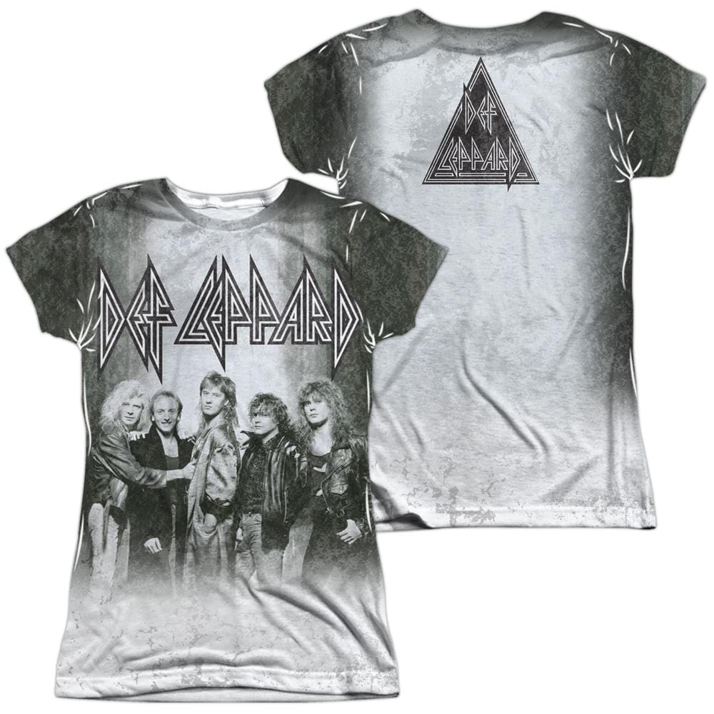 Def Leppard - The Band Junior All Over Print 100% Poly T-Shirt