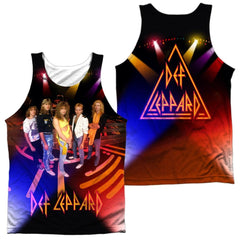 Def Leppard On Stage Adult Tank Top