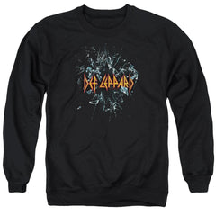 Def Leppard Broken Glass Adult Crewneck Sweatshirt