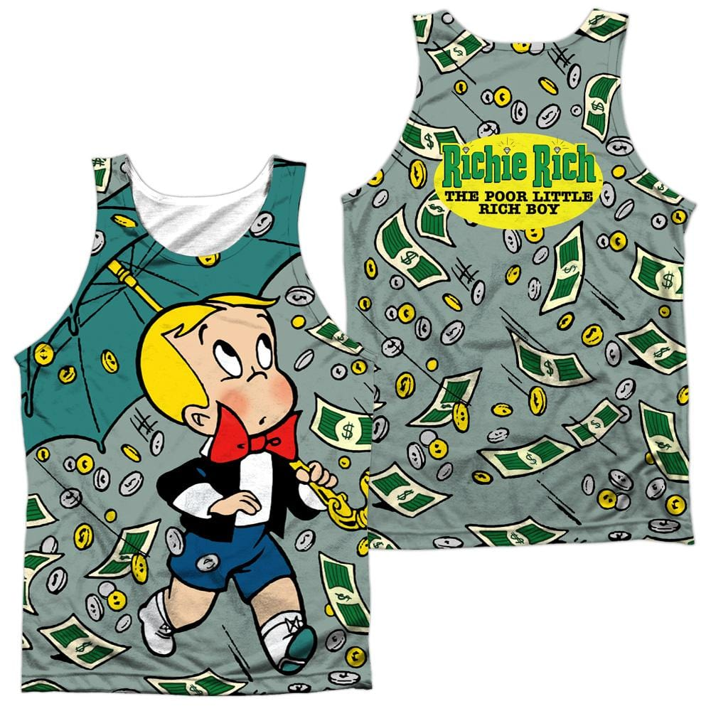 Richie Rich Let It Rain Adult Tank Top