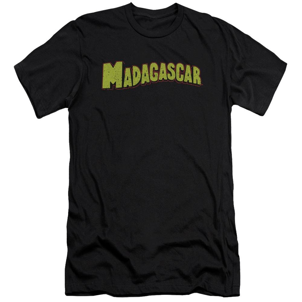 Madagascar Logo Premium Adult Slim Fit T-Shirt