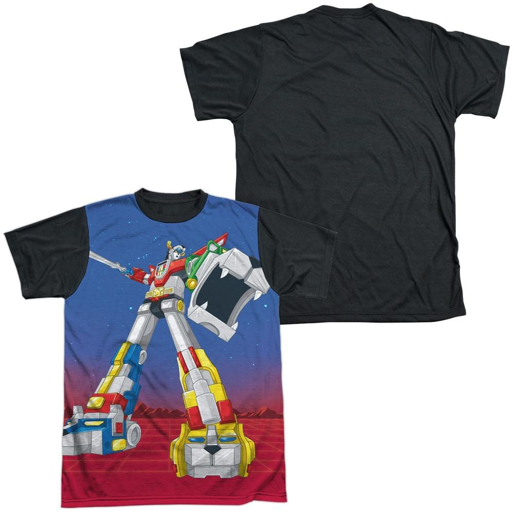 Voltron - Form Voltron Adult Black Back 100% Poly T-Shirt