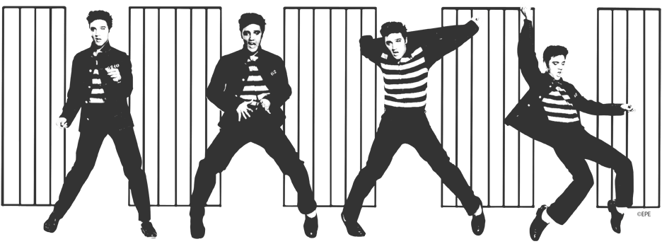 Image result for premiere of elvis presley in jailhouse rock