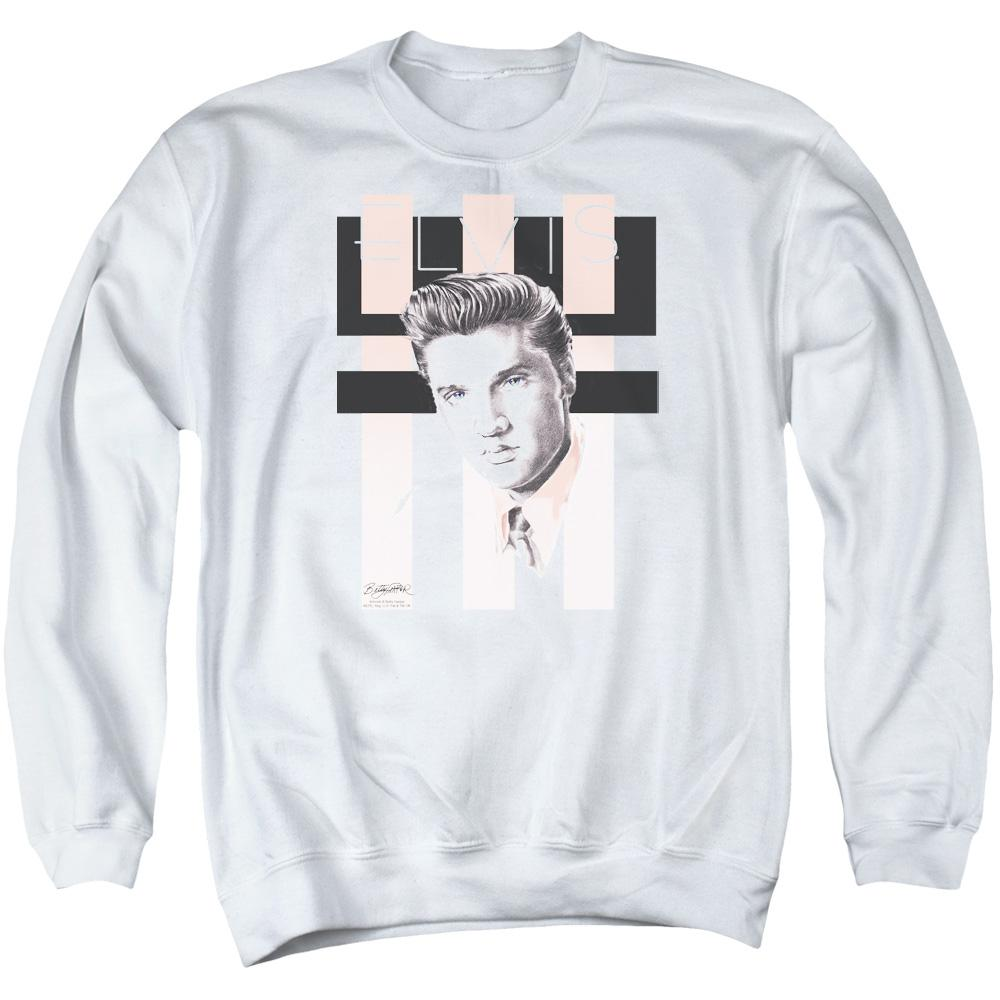 Elvis Retro Adult Crewneck Sweatshirt